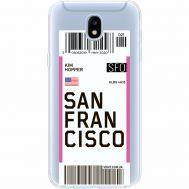Силиконовый чехол BoxFace Samsung J530 Galaxy J5 2017 Ticket San Francisco (35019-cc79)