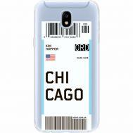 Силиконовый чехол BoxFace Samsung J530 Galaxy J5 2017 Ticket Chicago (35019-cc82)