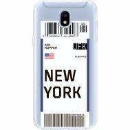 Силиконовый чехол BoxFace Samsung J530 Galaxy J5 2017 Ticket New York (35019-cc84)