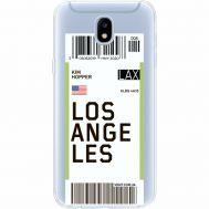 Силиконовый чехол BoxFace Samsung J530 Galaxy J5 2017 Ticket Los Angeles (35019-cc85)