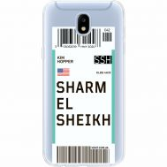 Силиконовый чехол BoxFace Samsung J530 Galaxy J5 2017 Ticket Sharmel Sheikh (35019-cc90)