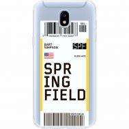Силиконовый чехол BoxFace Samsung J530 Galaxy J5 2017 Ticket Springfield (35019-cc93)