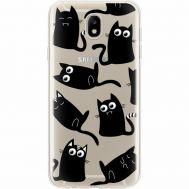Силиконовый чехол BoxFace Samsung J730 Galaxy J7 2017 с 3D-глазками Black Kitty (35020-cc73)