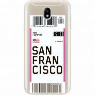 Силиконовый чехол BoxFace Samsung J730 Galaxy J7 2017 Ticket San Francisco (35020-cc79)