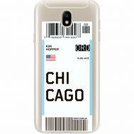 Силиконовый чехол BoxFace Samsung J730 Galaxy J7 2017 Ticket Chicago (35020-cc82)