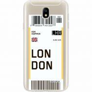 Силиконовый чехол BoxFace Samsung J730 Galaxy J7 2017 Ticket London (35020-cc83)