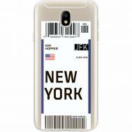 Силиконовый чехол BoxFace Samsung J730 Galaxy J7 2017 Ticket New York (35020-cc84)