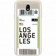 Силиконовый чехол BoxFace Samsung J730 Galaxy J7 2017 Ticket Los Angeles (35020-cc85)