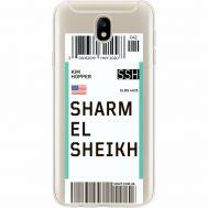 Силиконовый чехол BoxFace Samsung J730 Galaxy J7 2017 Ticket Sharmel Sheikh (35020-cc90)