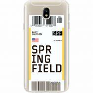 Силиконовый чехол BoxFace Samsung J730 Galaxy J7 2017 Ticket Springfield (35020-cc93)