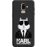 Силиконовый чехол BoxFace Samsung J810 Galaxy J8 2018 Cat in Black (36143-bk39)
