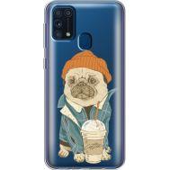 Силиконовый чехол BoxFace Samsung M315 Galaxy M31 Dog Coffeeman (39092-cc70)