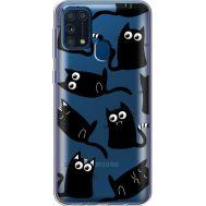 Силиконовый чехол BoxFace Samsung M315 Galaxy M31 с 3D-глазками Black Kitty (39092-cc73)