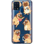 Силиконовый чехол BoxFace Samsung M315 Galaxy M31 с 3D-глазками Pug (39092-cc77)