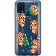 Силиконовый чехол BoxFace Samsung M315 Galaxy M31 с 3D-глазками Reindeer (39092-cc74)