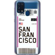 Силиконовый чехол BoxFace Samsung M315 Galaxy M31 Ticket San Francisco (39092-cc79)