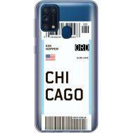 Силиконовый чехол BoxFace Samsung M315 Galaxy M31 Ticket Chicago (39092-cc82)