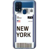 Силиконовый чехол BoxFace Samsung M315 Galaxy M31 Ticket New York (39092-cc84)