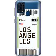 Силиконовый чехол BoxFace Samsung M315 Galaxy M31 Ticket Los Angeles (39092-cc85)