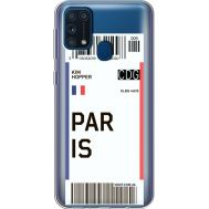 Силиконовый чехол BoxFace Samsung M315 Galaxy M31 Ticket Paris (39092-cc86)