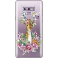 Силиконовый чехол BoxFace Samsung N960 Galaxy Note 9 Deer with flowers (934974-rs5)