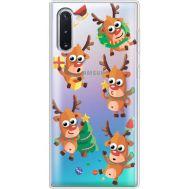 Силиконовый чехол BoxFace Samsung N970 Galaxy Note 10 с 3D-глазками Reindeer (37408-cc74)