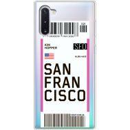 Силиконовый чехол BoxFace Samsung N970 Galaxy Note 10 Ticket San Francisco (37408-cc79)