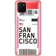 Силиконовый чехол BoxFace Samsung N770 Galaxy Note 10 Lite Ticket San Francisco (38846-cc79)
