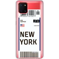 Силиконовый чехол BoxFace Samsung N770 Galaxy Note 10 Lite Ticket New York (38846-cc84)