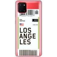 Силиконовый чехол BoxFace Samsung N770 Galaxy Note 10 Lite Ticket Los Angeles (38846-cc85)