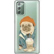 Силиконовый чехол BoxFace Samsung N980 Galaxy Note 20 Dog Coffeeman (40569-cc70)