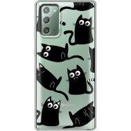 Силиконовый чехол BoxFace Samsung N980 Galaxy Note 20 с 3D-глазками Black Kitty (40569-cc73)