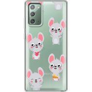 Силиконовый чехол BoxFace Samsung N980 Galaxy Note 20 с 3D-глазками Mouse (40569-cc76)
