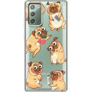 Силиконовый чехол BoxFace Samsung N980 Galaxy Note 20 с 3D-глазками Pug (40569-cc77)
