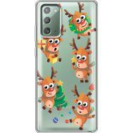 Силиконовый чехол BoxFace Samsung N980 Galaxy Note 20 с 3D-глазками Reindeer (40569-cc74)