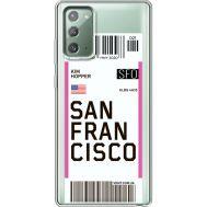 Силиконовый чехол BoxFace Samsung N980 Galaxy Note 20 Ticket San Francisco (40569-cc79)