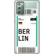 Силиконовый чехол BoxFace Samsung N980 Galaxy Note 20 Ticket Berrlin (40569-cc80)