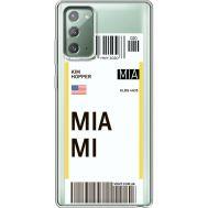 Силиконовый чехол BoxFace Samsung N980 Galaxy Note 20 Ticket Miami (40569-cc81)