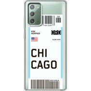 Силиконовый чехол BoxFace Samsung N980 Galaxy Note 20 Ticket Chicago (40569-cc82)