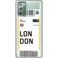 Силиконовый чехол BoxFace Samsung N980 Galaxy Note 20 Ticket London (40569-cc83)
