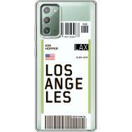 Силиконовый чехол BoxFace Samsung N980 Galaxy Note 20 Ticket Los Angeles (40569-cc85)