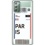 Силиконовый чехол BoxFace Samsung N980 Galaxy Note 20 Ticket Paris (40569-cc86)
