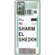 Силиконовый чехол BoxFace Samsung N980 Galaxy Note 20 Ticket Sharmel Sheikh (40569-cc90)