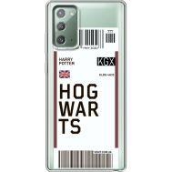 Силиконовый чехол BoxFace Samsung N980 Galaxy Note 20 Ticket Hogwarts (40569-cc91)
