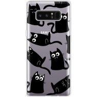 Силиконовый чехол BoxFace Samsung N950F Galaxy Note 8 с 3D-глазками Black Kitty (35949-cc73)