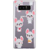 Силиконовый чехол BoxFace Samsung N950F Galaxy Note 8 с 3D-глазками Mouse (35949-cc76)