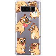 Силиконовый чехол BoxFace Samsung N950F Galaxy Note 8 с 3D-глазками Pug (35949-cc77)