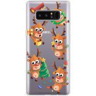 Силиконовый чехол BoxFace Samsung N950F Galaxy Note 8 с 3D-глазками Reindeer (35949-cc74)