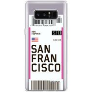 Силиконовый чехол BoxFace Samsung N950F Galaxy Note 8 Ticket San Francisco (35949-cc79)