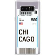 Силиконовый чехол BoxFace Samsung N950F Galaxy Note 8 Ticket Chicago (35949-cc82)